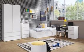 študentská izba CRYSTAL 1, biela