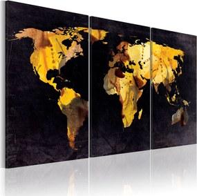 Obraz - The World map - quicksands 120x60