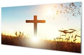 Nástenný panel Kríž pole Slnka 140x70cm