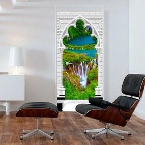 Fototapeta na dvere Bimago - Gothic arch and waterfall + lepidlo zadarmo 70x210 cm