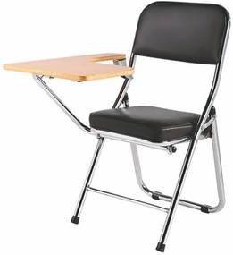 TEMPO KONDELA Teker konferenčná stolička s doskou na písanie čierna / prírodná