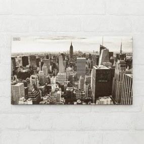 3D drevený, gravírovaný, panoramatický obraz na stenu - Fotografia New York