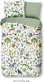 Detské bavlnené obliečky Good Morning Džungľa, 140 x 200 cm