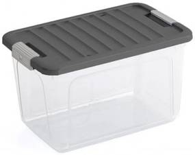 KIS W BOX M 30L 49x30x29cm transparent/sivé veko