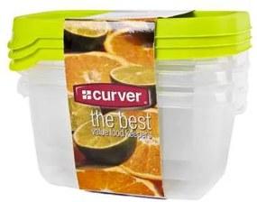 CURVER - Sada dóz na potraviny obdĺžnik 3 x 0,5 l