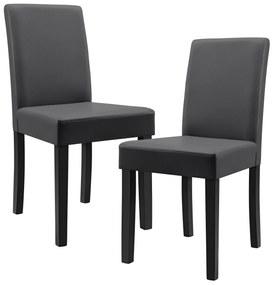 8fb8a8e89b38b ... [en.casa]® Sada štýlových čalúnených stoličiek - 6 ks - tmavo sivé