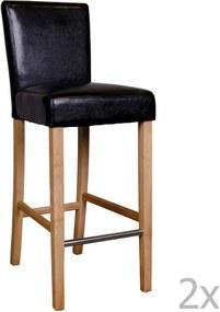 Sada 2 čiernych barových stoličiek House Nordic Boden