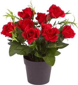 Umelé kvety Ruže, červená