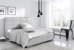 Luxusná posteľ Capristone 180x200cm, šedá