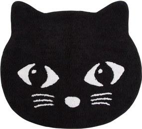 Sass & Belle Bavlnený koberec Mačička - čierny