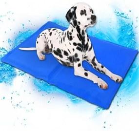 6706_3 DR Chladiaca podložka pre psa - modrá (50x90cm)