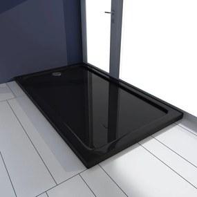vidaXL Obdĺžniková sprchová vanička z ABS, čierna 70x120 cm