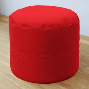 Goldea bavlnený sedacie bobek 50x40 cm - červený 50 x 40 cm