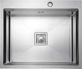 SAPHO - ETTA Nerezový dřez 63x53x22 cm (ET6353