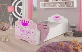 Dievčenská detská posteľ 140x70 cm Princezná