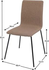 Jedálenská stolička RENITA hnedá / čierná Tempo Kondela