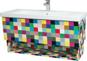 Dřevojas - Koupelnová skříň INVENCE SZZO 100 (umyvadlo Harmonia) - IND Individual / IND Individual (147600)