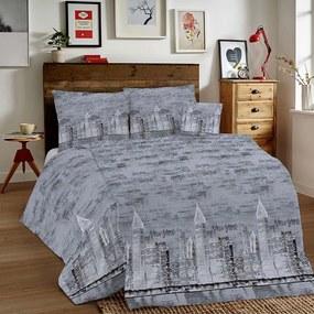 Bavlnené obliečky New York tmavošedé 140x200cm/80x80 cm