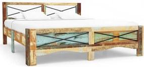 247666 Edco Rám postele z masívneho recyklovaného dreva 140x200 cm