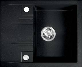 Novaservis Drezy - Granitový drez 580x480 mm, grafit, DRGM48/58HA