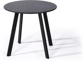 Čierny záhradný stôl Le Bonom Full Steel, ø 50 cm