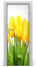 Fototapeta samolepiace Žlté tulipány 75x205cm