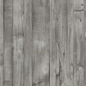 Vliesové tapety, drevené dosky hnedo-sivé, Origin 4210430, P+S International, rozmer 10,05 m x 0,53 m