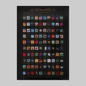B2B Seškrabávací plagát - 100 filmov, ktoré musíte vidieť