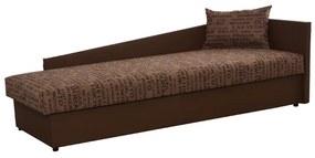 KONDELA Judit P jednolôžková posteľ (váľanda) hnedá / vzor (Vegas 3)