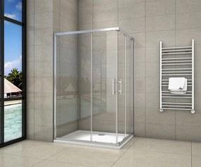 Sprchovací kút štvorcový, SIMPLE 100x100 cm L / P variant, rohový vstup