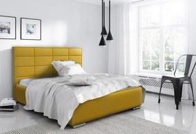 Luxusná posteľ Capristone 180x200cm, žltá