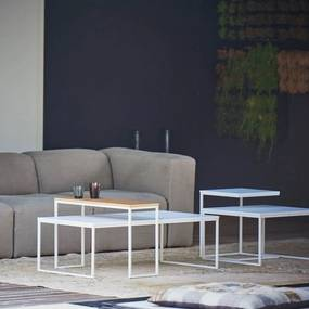 Konferenčný stôl FLAT   60×110 cm   biela podnož » biely plát