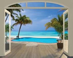 Paradise Beach tapeta 3D Walltastic