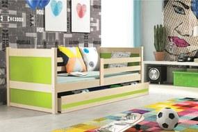 Dětská postel Roko (160x80) + matrace ZDARMA! Roko : Barevné provedení  Přírodní/bílá