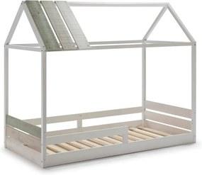 Biela detská posteľ s konštrukciou z borovicového dreva Marckeric Ilenia