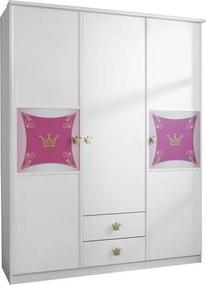 Detská šatníková skriňa Kate, 3-dverová