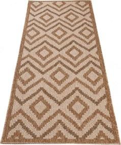 Kusový koberec Alen béžový atyp, Velikosti 80x200cm