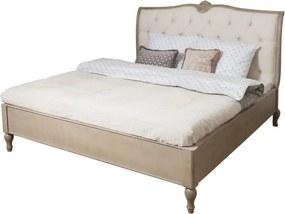 Béžová posteľ z brezového dreva Livin Hill Venezia, 180 x 200 cm