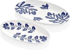 Sada 2 bielych porcelánových tanierov Mia Bloom