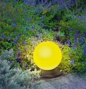 Solárna plávajúca guľa Esotec 102001 14cm žltá