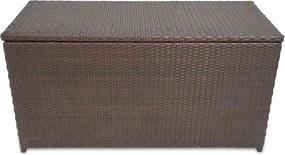 Záhradný úložný box, polyratan, hnedý