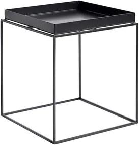 HAY Stolík Tray Table 40x40, black