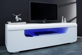Dizajnový TV stolík Luminous 150 cm / biela