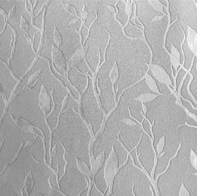 Vliesové tapety na stenu Collection PAL.51004-44, rozmer 10,05 m x 0,53 m, lístky strieborné na sivom podklade, Impol Trade