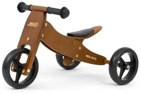 MILLY MALLY Nezaradené Detské multifunkčné odrážadlo bicykel 2v1 Milly Mally JAKE Dark Natural Hnedá |