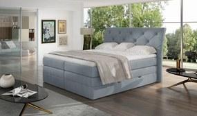 Kvalitná box spring posteľ Marek 180x200, sivá Solar
