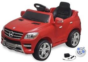vidaXL Detské elektrické auto s ovládačom červené Mercedes Benz ML350 6 V