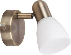 Rábalux Soma 6306 Nástenné Lampy bronz biely E14 1x MAX 40W 80 x 120 mm