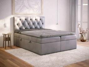 PROXIMA.store - Kontinentálna boxspring posteľ VILLAR - farba na mieru - 120/140/160/180 Veľkosť postele: Pre matrac 120 x 200 cm