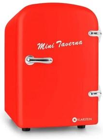 Klarstein Mini Taverna, chladnička, 4 l, červená
